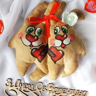 Ароматно-кофейные парные игрушки ко Дню Св. Валентина