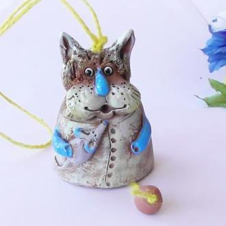 Котик Колокольчик Кот c мышкой