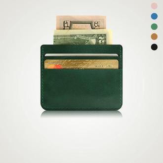 Картхолдер, зеленый кошелек, подарки для парней, подарки мужу | Avion Holysaints