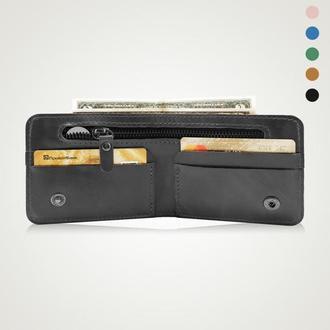 Черный кошелек, кошелек мужской, подарок чоловіку | Putea Holysaints
