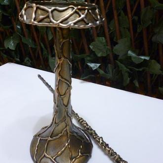 """Подсвечник деревянный с декором в стиле """"Гарри Поттер"""", 25,5 см."""