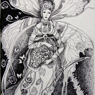 """Графический рисунок """"Бабочка"""""""