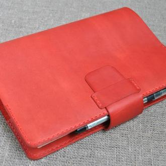 Красная обложка для блокнота А5 формата B05-580
