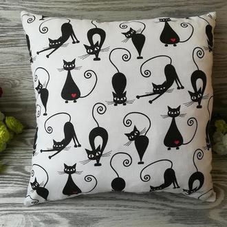 Подушка черные кошки , 35 см * 35 см