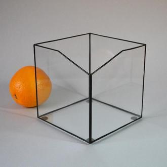 Флорариум кашпо квадрат.