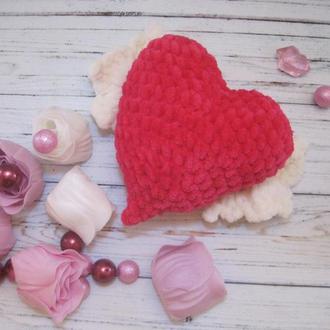 Валентинка, Сердце с крыльями, Серце з крилами, День Святого Валентина, Подарок, Игрушка