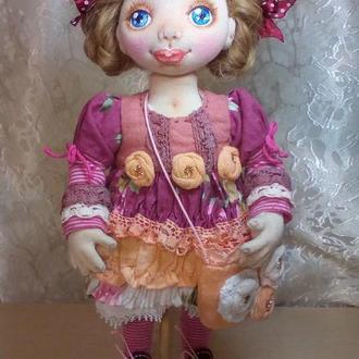 Кукла интерьерная  в стиле бохо