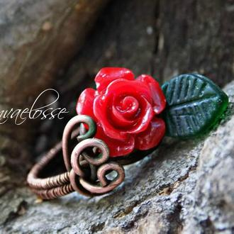 """Кольцо """"роза"""""""