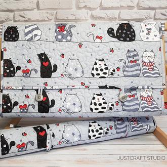 Накидка на станок (раму) Влюбленные коты