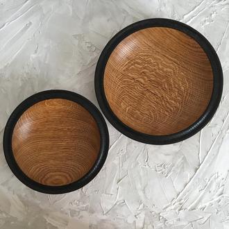 Тарелка из дерева, Супница, полосе боул