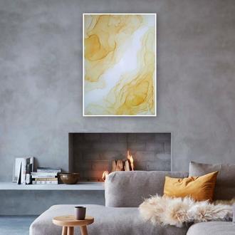 """""""Желтые листья"""" Интерьерная картина в абстрактном стиле"""