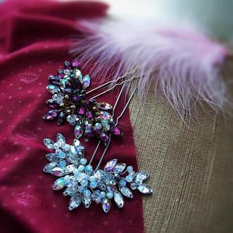 Радужные шпильки-две расцветки