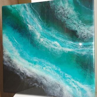 """""""Терапия океана"""" Интерьерная картина в абстрактном стиле"""