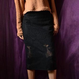 Шикарная кружевная юбка карандаш