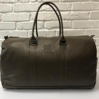Большая дорожная сумка. Дорожная сумка из натуральной кожи. Спортивная сумка.