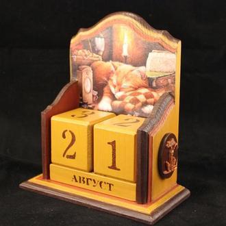 Вечный календарик настольный