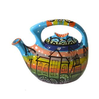 Семейный чайник-заварник Город 1 ( ручная работа )