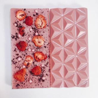Плитка из бельгийского розового шоколада Ruby