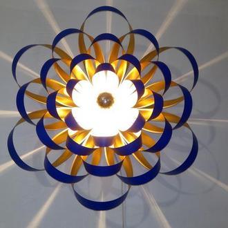 Интерьерный дизайнерский настенный светильник Георгина ультрамарин
