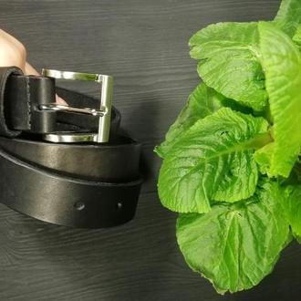 Мужской кожаный ремень REVIER+2 ПОДАРКА: кожаная ключница и оригинальная упаковка!
