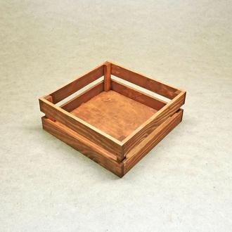 Короб для хранения Милена 270х270мм шафран