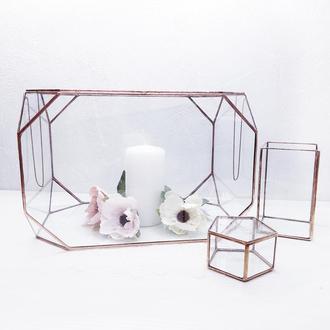 Набор свадебных аксессуаров из стекла