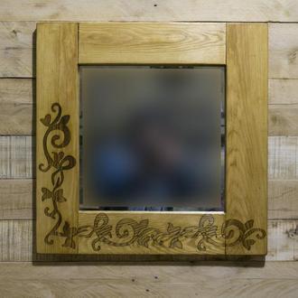"""Зеркало с гравировкой """"Цветочный узор"""""""