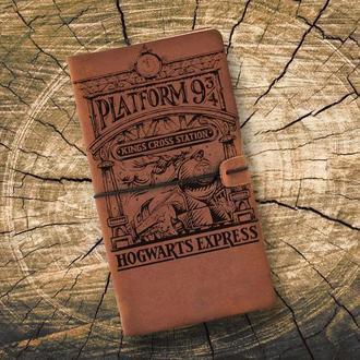 Блокнот из кожи, Гарри Поттер, Платформа 9 3/4, Записная книжка, Скетчбук, Блокнот с гравировкой