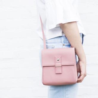 """Розовая сумочка через плечо """"Ponika"""". Розовая сумка, маленькая сумка из экокожи."""