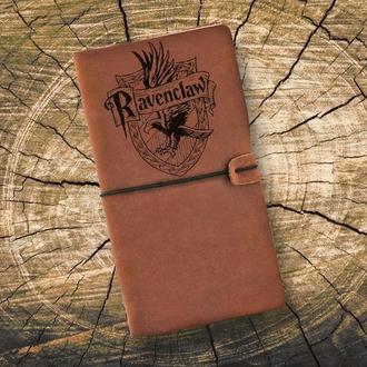 Блокнот из кожи, Гарри Поттер, Ravenclaw, Записная книжка, Скетчбук, Блокнот с гравировкой