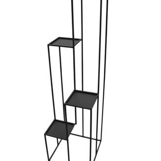Полка квадро k385 loft 140 см черная