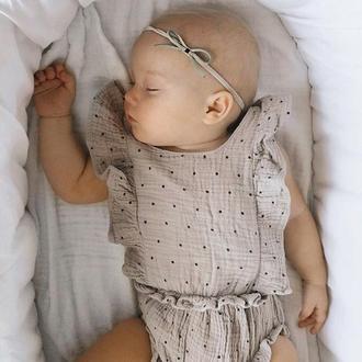 Бантики для маленькой девочки. Узелок на повязке. Подарок для малышки. Бархатный синий бантик.