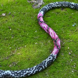 Колье Змея из японского бисера