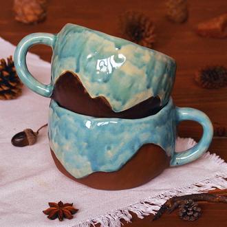 Чашки с горами 750 и 600 мл