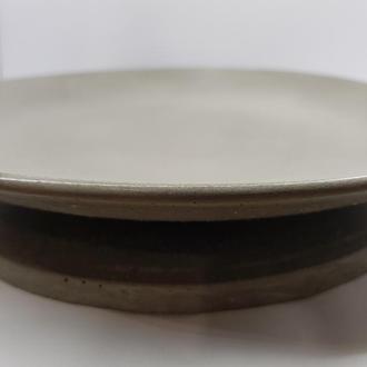 Набор тарелка и подставка под тарелку из бетона, сделанные вручную, стиль Loft