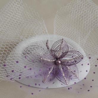 Свадебная шляпка-таблетка