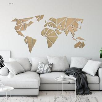 Карта Світу з дерева WoodEarthMap