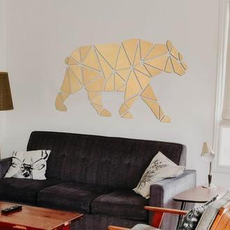 Медведь на стену из натурального дерева WoodBear