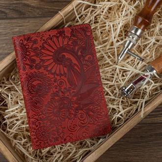 "Обложка для паспорта  HiArt PC-02 Shabby Red Berry ""Mehendi Art"""