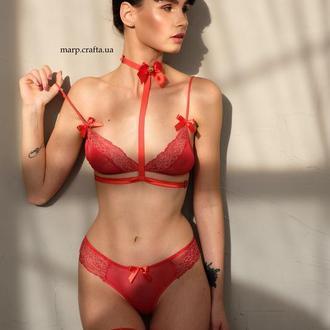 красный страстный - комплекты нижнего белья, комплекты кружевного белья, комплекты женского белья