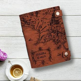 Блокнот из кожи, Властелин колец, Блокнот из кожи, Записная книжка, Скетчбук с кожаной обложкой