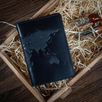 "Обложка для паспорта  HiArt PC-02 Shabby Night ""World Map"""