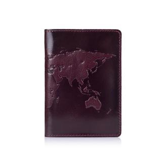 "Обложка для паспорта  HiArt PC-03 Crystal Sangria ""World Map"""