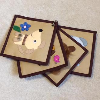 Развивающая книжка, мини книжка, книжка малышка