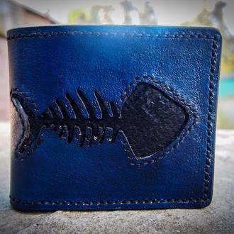 Кожаный кошелек Рыбка