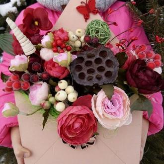 Цветочная композиция, подарок, 8 марта