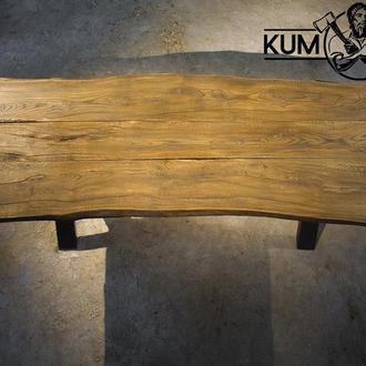 Стол из натурального дерева ручной работы