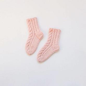 Зефирные носочки для девочки! Каждая косичка вывязана с любовью.