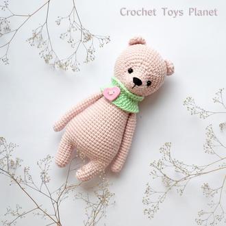 В'язання іграшка Ведмедик рожевий