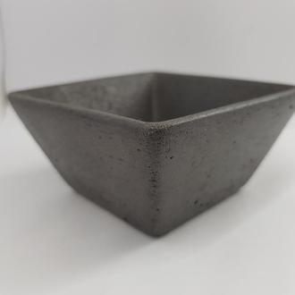 Пиала из бетона, в стиле Loft,  - черная